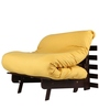 Single Futon Sofa cum bed With Mattress in Yellow Colour by ARRA