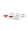 Sivica White Porcelain Serving Tray - Set of 2