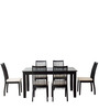 Drina Six Seater Dining Set in Cappuccino Finish by CasaCraft