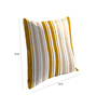 Skipper Beige Viscose & Polyester 16 x 16 Inch Stripes Cushion Covers - Set of 3