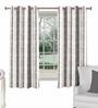 Skipper Black & White Polyester Checks Pattern Window Curtain - Set of 2
