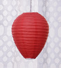 Skycandle Red Oval Paper Lantern