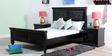 Ellenborough Queen Size Bed in Espresso Walnut Finish by Amberville