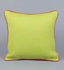 Solaj Dark Green Cotton 18 x 18 Inch Woven Cushion Cover
