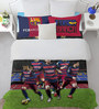 SPACES FCB Players Blue Double Bedsheet with 2 Pillow Covers