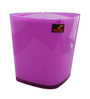 Spirella Swiss Design Purple 1 L Triangle Wave Cover Desktop Trash Bin
