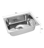 SS Silverware Stainless Steel Single Bowl Kitchen Sink - SS-SQ-S