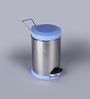SS Silverware Plain Blue 11 L Pedal Dustbin with Lid
