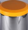SS Silverware Plain Orange 7 L Pedal Dustbin with Lid