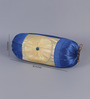 Stybuzz Blue Dupion Silk 16 x 30 Inch Bolster Covers - Set of 2