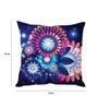 Stybuzz Blue Silk 16 x 16 Inch Neon Cushion Cover