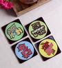 Stybuzz Bollywood Theme Multicolour Acrylic Square Coasters - Set Of 4