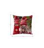 Stybuzz Cute Winter Dolls Christmas White Silk Cushion Cover