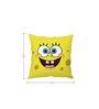 Stybuzz Spongebob White Silk Cushion Cover