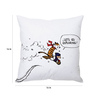 Stybuzz White Silk 16 x 16 Inch Calvin & Hobbes Exploring Cushion Cover
