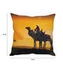 Stybuzz Yellow Silk 16 x 16 Inch Camel in Desert Cushion Cover