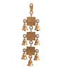 Suriti Golden Brass Krishna Theme Two Tier Hanging Bell