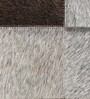 SWHF Grey Leather 35 x 59 Inch Large Rug Patch Work Rug