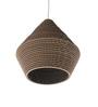 Sylvn Studio Brown Corrugated Board Sheer Pendant