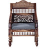 Taksh Handcrafted Single Seater Sofa in Provincial Teak Finish by Mudramark