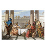 Tallenge Canvas 62 x 1 x 43 Inch The Banquet of Cleopatra Art by Giovanni Battista Tiepolo Framed Large Digital Art Print