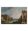 Tallenge Canvas 66 x 1 x 43 Inch The Grand Canal in Venice with The Rialto Bridge by Canaletto Framed Large Digital Art Print