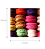 Tallenge Canvas 15 x 15 Inch  Colorful Macaroons Framed Digital Art Prints