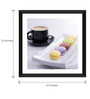 Tallenge Paper & Glass 12 x 12 Inch  Macaroons & Tea Framed Digital Art Prints
