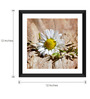 Tallenge Paper & Glass 12 x 12 Inch  White Flower Framed Digital Art Prints