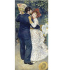 Tallenge Gallery Wrap Canvas 12 x 24 Inch Old Masters Collection A Dance In The Country by Pierre-Auguste Renoirs Framed Digital Art Prints