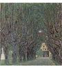 Tallenge Gallery Wrap Canvas 18 x 18 Inch Old Masters Collection Avenue of Schloss Kammer Park by Gustav Klimts Framed Digital Art Prints