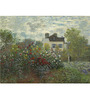 Tallenge Gallery Wrap Canvas 18 x 24 Inch Old Masters Collection The Artist's Garden In Argenteui by Claude Monets Framed Digital Art Prints