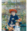 Tallenge Gallery Wrap Canvas 18 x 24 Inch Old Masters Collection Two Sisters, Or on The Terrace by Pierre-Auguste Renoirs Framed Digital Art Prints
