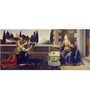 Tallenge Photographic Paper 12 x 24 Inch Old Masters Collection Annunciation by Leonardo Da Vincis Framed Digital Art Prints