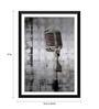 Tallenge Paper 12 x 0.5 x 17 Inch Brushed Metal Microphone Framed Digital Poster