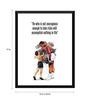 Tallenge Paper 12 x 0.5 x 17 Inch Muhammad Ali Courage Framed Digital Poster