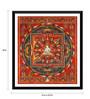 Tallenge Paper 16 x 0.5 x 18 Inch Vintage Art Ushnishavijaya Mandala C1500 Framed Digital Poster