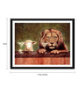 Tallenge Paper 17 x 0.5 x 12 Inch Animals with Martini Framed Digital Poster