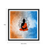 Tallenge Paper 18 x 0.5 x 18 Inch Silhouette Buddha Framed Digital Poster