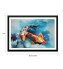 Tallenge Paper 24 x 0.5 x 16 Inch Beautiful Twin Fishes Framed Digital Poster