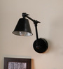 The Black Steel Black Iron Wall Mounted Lamp