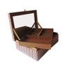 The Decor Mart Beaded Fabric Beige Jewellery Box