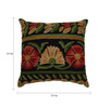 The Decor Mart Multicolour Cotton 17.7 x 17.7 Inch Floral Embroidered Cushion Cover