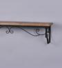 The Decor Mart Brown  Wooden Designer Wall Shelf