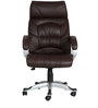 The Doblepiel Executive High Back Chair Brown color by VJ Interior