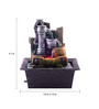 The Exclusive Deco Brown Resin Elegant Electric Operated Indoor Fountain