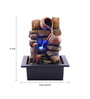The Exclusive Deco Brown Resin Matka Electric Operated Indoor Fountain