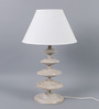 The Light Store Off White Cotton Table Lamp