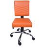 The Naranja Study And Task Chair Orange in Orange Color By VJ Interior