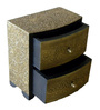 The Shopy Multicolour Solid Wood Vintage Table Top Collectible with 2 Drawers